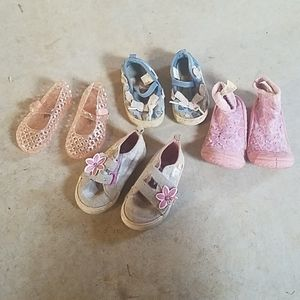 Baby girl shoe lot